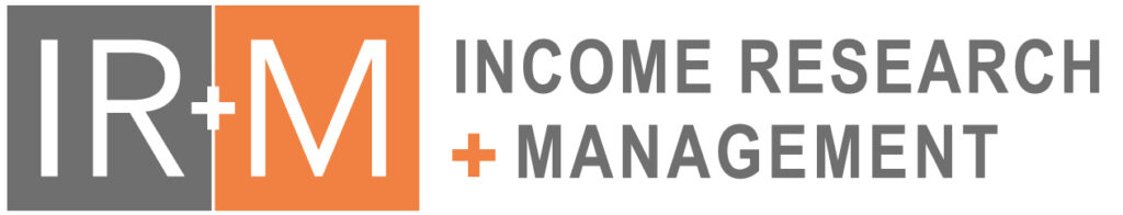Income Research and Management logo and text