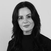 Black and white Ruth Farrugia headshot