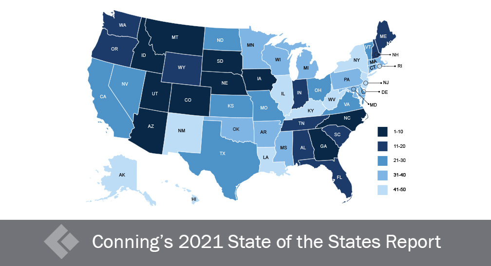 Conning's State of the States Rank May 2021