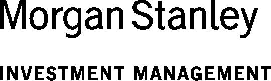 Morgan Stanley Investment Management black logo on a transparent background