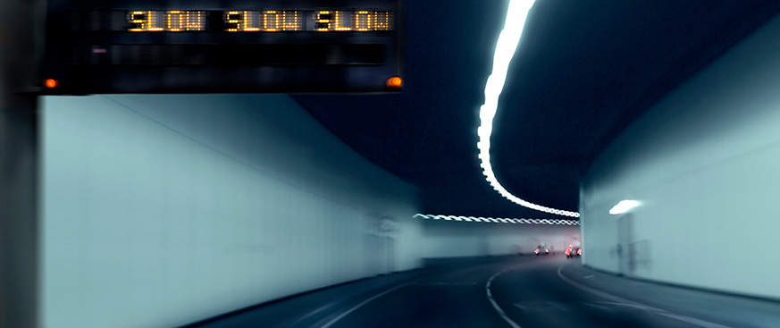 blurred image of a car passenger tunnel
