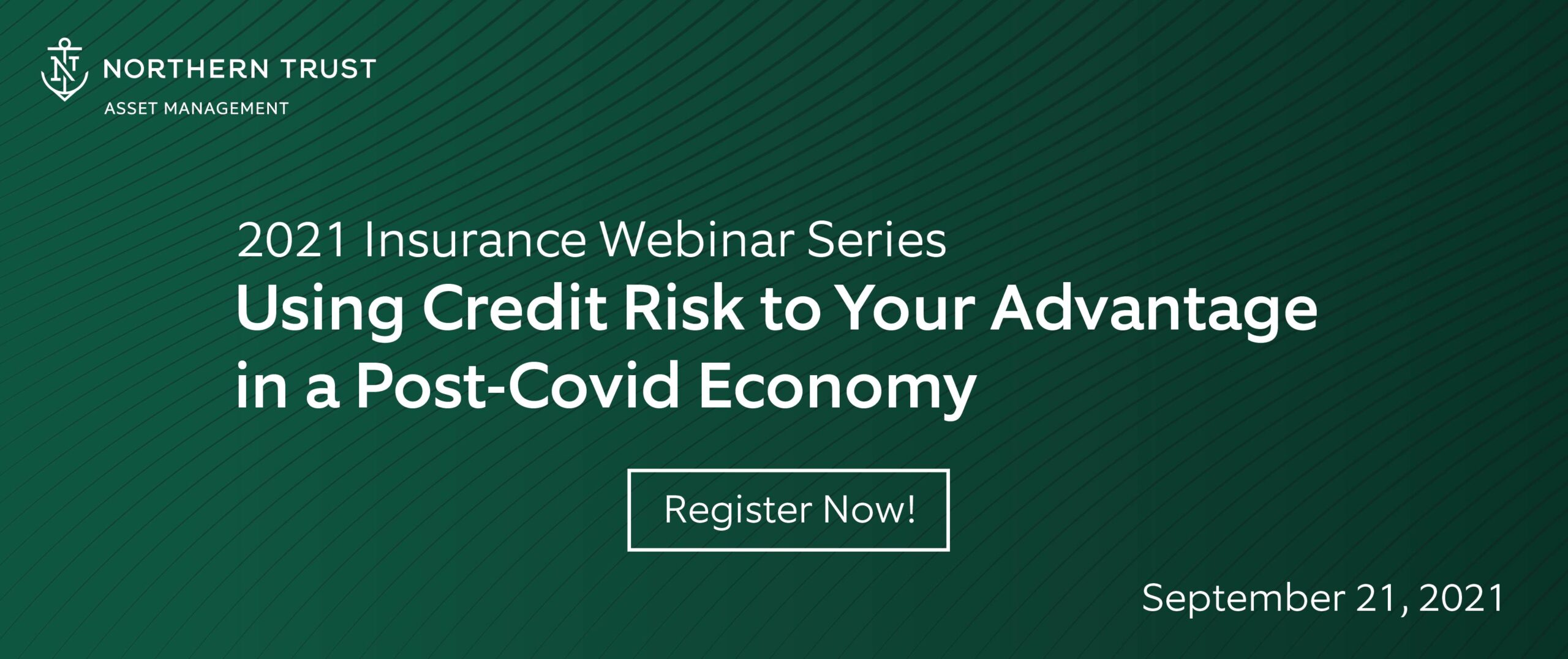 Using Credit Risk to Your Advantage in a Post-COVID Economy banner on dark green background