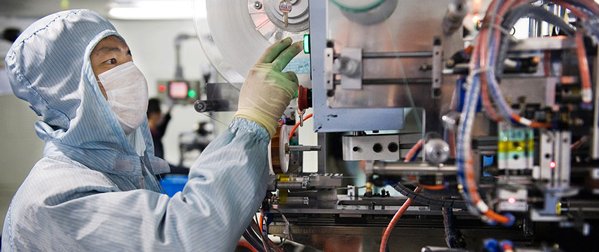 Worker in a technology lab